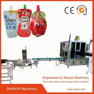 Baby food /soybean/juice/milk /jelly spout pouch filling machine