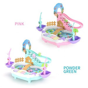 Children Fish Toy Piano 2 In 1 Music Light Educational Fun Game