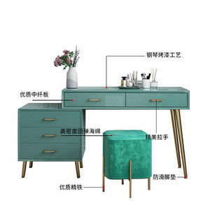 Color optional solid wood bedroom dressing table white/Dark green dresser