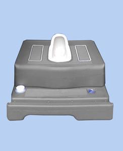 Construction building material flush plastic tank toilet