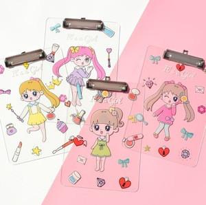 Cute Girl UV Printing A3/4/3/6 Size Clear Acrylic Clipboard Folder