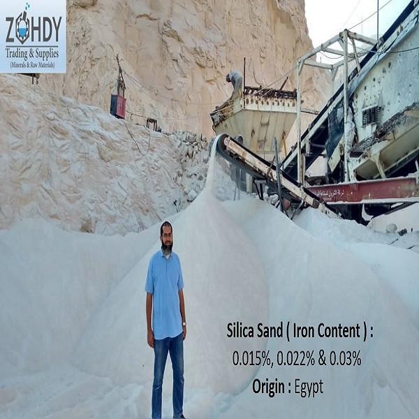 Egypt Silica Sand Purity 99-99.7 & Fe2O3 : 0.015-0.035- % Max