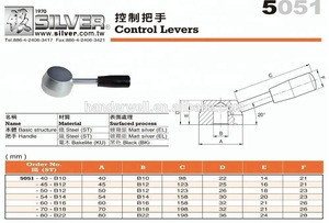 Grinding Machine Parts and Lathe Handle Taiwan Marine Cable Control Lever