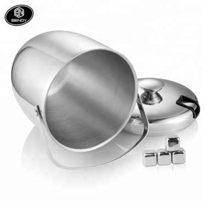 High-quality Double Walled Anti-fingerprint Stainless Steel Ice Bucket