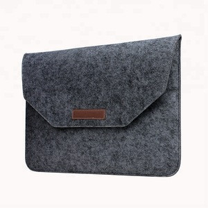 High quality Felt materia multifunctional laptop sleeve light weight wool bag For Macbook 15 Inch