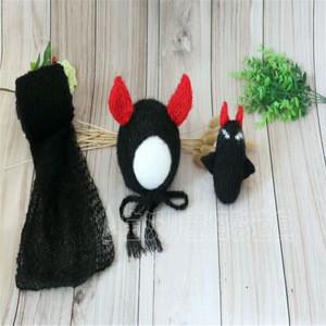 Lovely Monster Doll Crochet Monster Bonnet and Wrap Newborn Stuffer Layering Photography Props