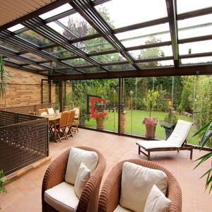 Modern portable design 4 season small glass veranda solarium room aluminum winter garden house terrace roof sunroom