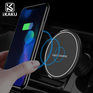 OEM Private label wholesale cellphone qi standard wireless smart mini car charger