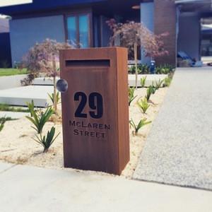 Outdoor decorative rustproof corten mailboxes for apartments
