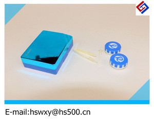 Plastic case for contact lense can be custom made with any size &colors