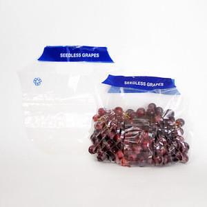 Plastic PE Slider Fruit Bag For Grape Packaging