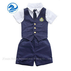 Short sleeve primary school uniform for boy