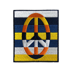 Various types logo sew on embroidered patch for accessories