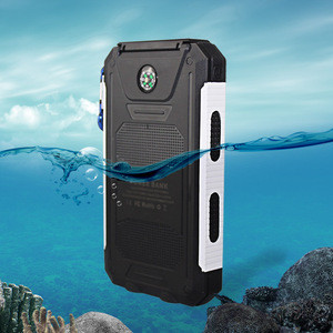 Waterproof Portable solar power bank charger 10000mah,solar charger power bank,solar mobile power bank with compass and led