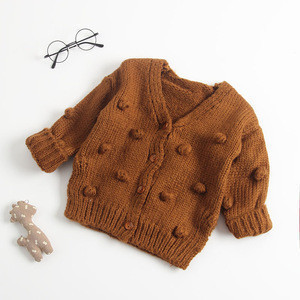 Wholesale Girl Cardigan Design Baby Knit Sweater