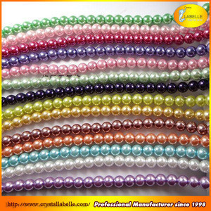 Wholesale glass pearl bead for garment wedding dress hat and necklace Diy