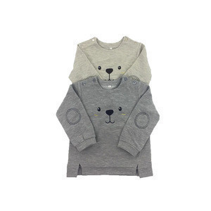 Wholesale  Soft Cotton Fabric Kids Baby Sweatshirt