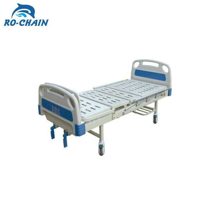 RC-AS023 Two function manual metal material modern normal flat nursing hospital bed for sale