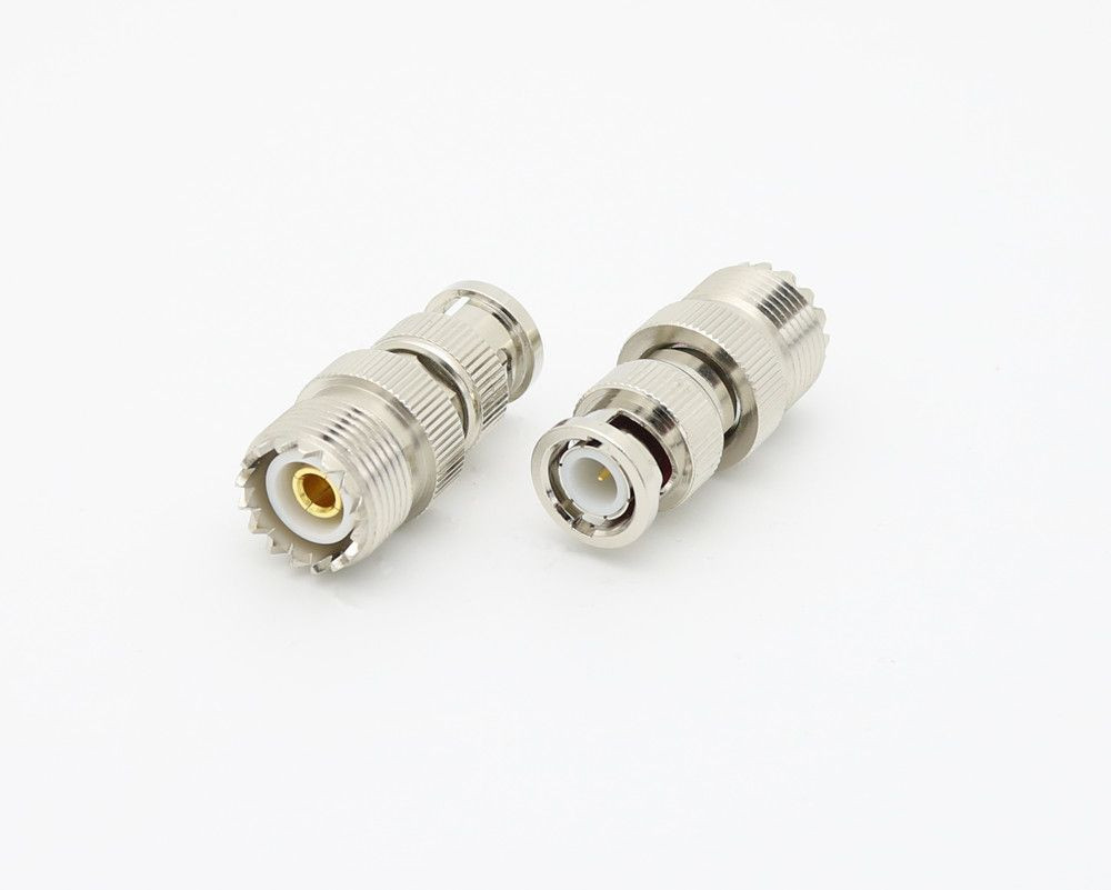 RF coaxial BNC male to UHF female connector adapter