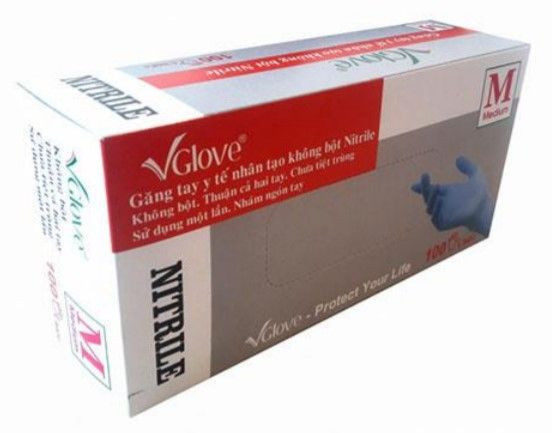 Nitrile gloves powder free V Glove