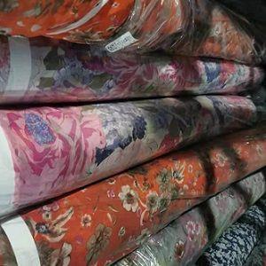 "Poly Chiffon Yoryu Print Woven 57""/58"""