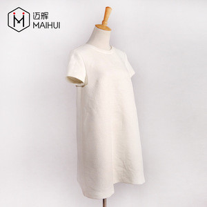 2019SS Popular Good Quality for Girl White Dress with Zip Back Qute Dress
