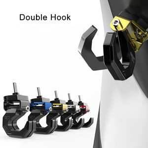 Aluminum Alloy Motorcycle Luggage Helmet Double Hook Mount Scooter Helmet Holder Bag Bottle Hook Hanger with Screw
