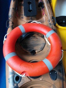 Canoe kayak and other water sports used plastic life buoy