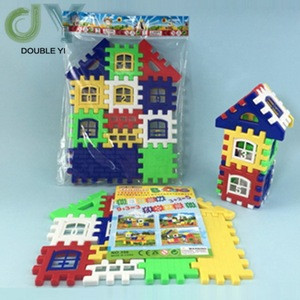 Childrens Enlightenment Assembling House Blocks Plastic Inserting Assembly Building House Toys