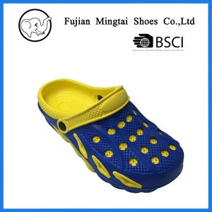 China hot selling women and men eva holes clogs