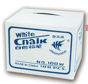 Chinese manufacturer education supplies 100pcs white dustless chalk with low price for sale