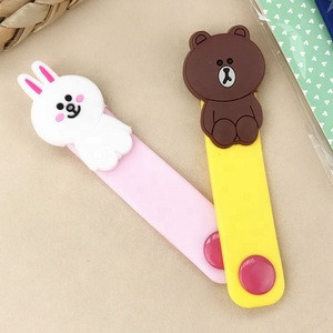 Custom Logo Colorful Printing Cartoon Cord Winder/Holder Cable Cord Clip