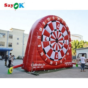 Custom New Inflatable Foot Darts For Sale Inflatable Dart Board With Suction Cup Darts