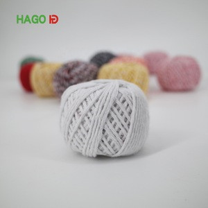 Eco-friendly Natural  twisted colorful cotton twine ball with macrame plant hangers