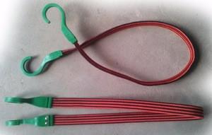 Elastic Strap Belt - Tie Down TUBULAR FLAT BELT with bungee hooks motorcycle belt
