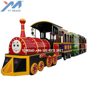 Electric trackless  Yimiao Factory Amusement Park Tour Train For Sale