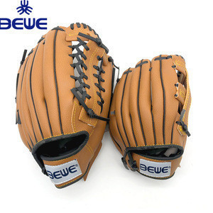 Factory made exported to USA cheap good price custom logo OEM synthetic leather 9/10/11/12 kids baseball mitt