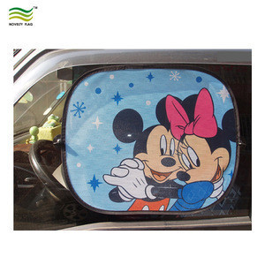 Foldable custom logo printing Car side window sunshade