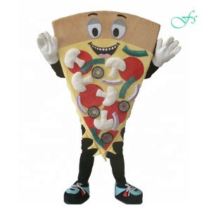 Good ventilation Pizza costume mascot, custom pizza cartoon costume ideas