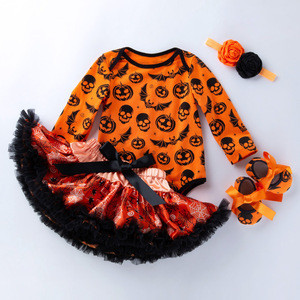 Halloween Dress Costume For Baby Infant Party Dress Tutu Newborn Jumpsuit Romper Baby Girl Clothing Drop Shipping Birthday Gift