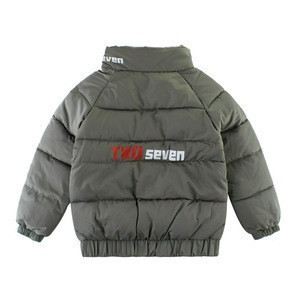 LT- MY228 Baby winter design army green cold-proof feather coat jacket 3-8 years in stock / OEM Custom