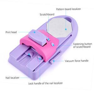 Manicure Stamp Set Tools DIY Nail Art Printer Machine With 6 Metal Pattern Plates Scraper Printing Chart Plate Stamper Printing