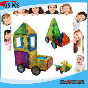 No.8565-35pcs Magnetic Toys for Kids DIY 3D Educational Intellectual Toys for Babies Block Toy Game for Children wholesale