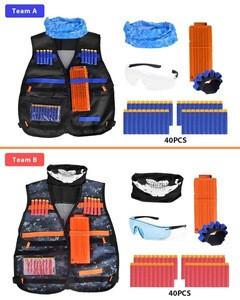 [Online Store Hot Sale]2 Pack Kids Tactical Vest Kit for Major Brands of Soft Play Toy Guns Soft Bullet Guns Toy Accessories