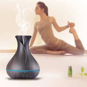 Perfume Aromatherapy Diffuser Woodgrain essential oils humidifier air purifier Multi-color Modes ultrasonic aroma air humidifier