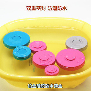 Portable travel waterproof silicone pill storage cases with compartments