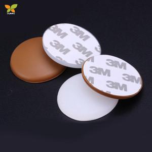 Round Soft Rubber Self Adhesive Door Knob Wall Protector Door Bumper