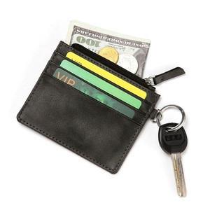 Super Thin Key OEM ODM Leather Key Card Holder Wallets Man