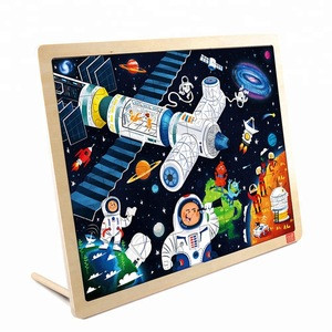 TOI Classic Puzzle 48Pcs Space Educational Toy Interesting Wood Jigsaw Puzzles For Children