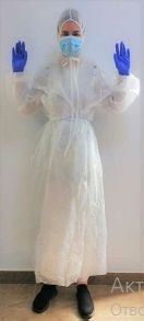 Gown with hood from Non-woven fabric
